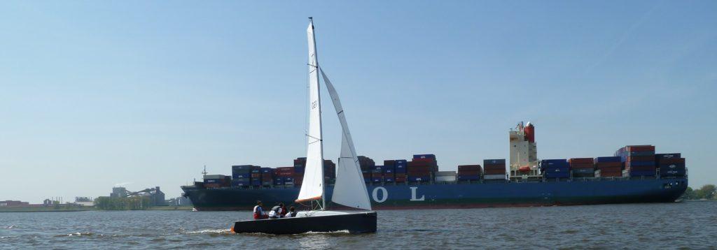 Segeln auf der Elbe Segelclub Rhe Elbsegeln